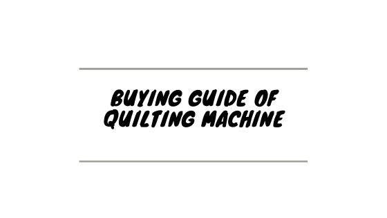 best sewing machinefor quilting