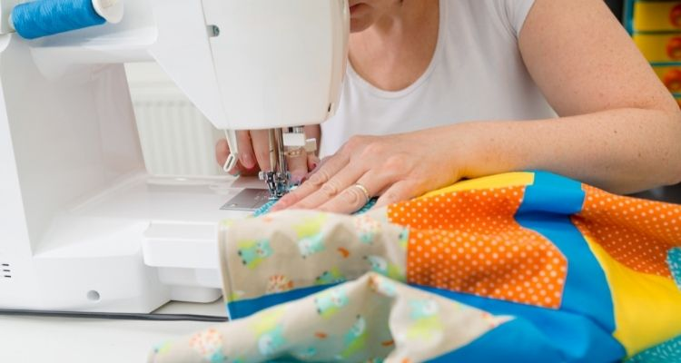 Sew the rows together to form a quilt top