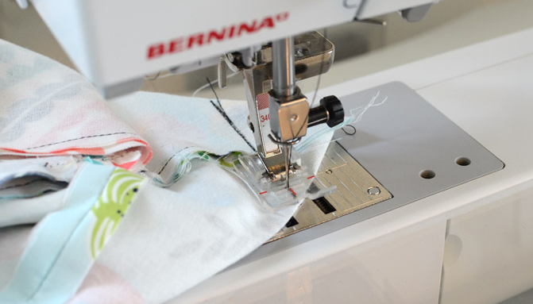 stitching the line