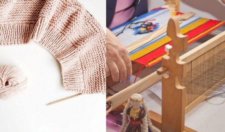 Is Knitting Faster than Weaving