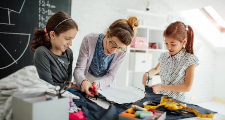 Teach them about sewing patterns