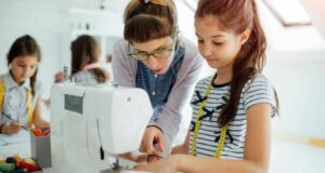 Teaching a Child to Sew